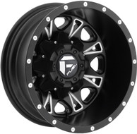 FUEL THROTTLE DUALLY D513 WHEELS 17X6.5 8X210 REAR -129MM BLACK | D513176593R