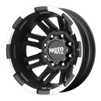 "Moto Metal MO963 Dually Wheels REAR 16X6 8X6.5"" ( 8X165.1 ) Black -94 