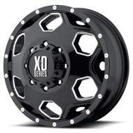 XD Batallion Dually Wheel Front 22x8.25 8x6.5 8x165.1 Black 97mm - 98 Older Ford - IN CART DISCOUNT!