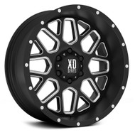"XD Grenade XD820 Wheels 20X9 6X5.5"" Black Milled 0 