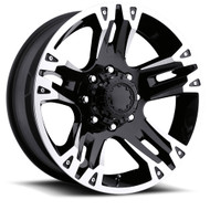 Ultra Maverick 234b Wheels 17x8 8x6.5 8x165.1 +0 Black | 234-7881B