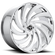 DUB® Delish S238 Wheels Rims 24x9 5x4.5 (5x114.3) 5x120 Chrome 25 | S238249052+25