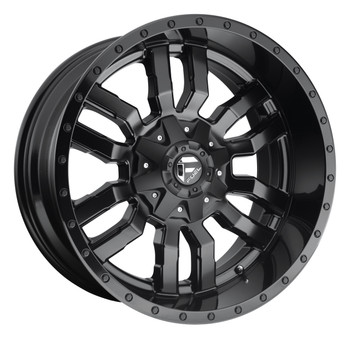 Fuel® Sledge D596 Wheels Rims 24x14 5x5.5 (5x139.7) 5x150 Matte Gloss Black -75  | D59624407045
