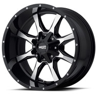 Moto Metal MO970 Wheel 22x10 Gloss Black Machined Face Custom Drilled BP -18mm Offset  - FREE LUGS & IN CART DISCOUNT!!