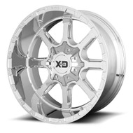 XD Series Mammoth XD838 Wheel 20x10 Chrome Custom Drilled BP -18mm Offset - FREE LUGS & IN CART DISCOUNT!!