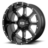 XD Series Mammoth XD838 Wheel 22x10 Gloss Black Milled Custom Drilled BP 12mm Offset  - FREE LUGS & IN CART DISCOUNT!!