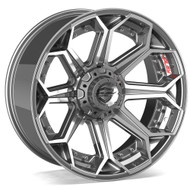 4Play® 4P80 Wheels Rims 22x10 5x127 (5x5) 5x5.5 (5x139.7) Brushed Gunmetal -24  | 4P80R-22100-5D55-24BG