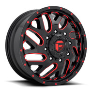Fuel Triton Dually - Front Wheel 20x8.25 8x200 Milled Red 105MM -FREE LUGS