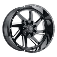 Luxxx HD Off-Road® LUX HD 14 Wheels Rims 22x12 8x170 Gloss Black Milled -44  | LHD1422128170-44GBMI