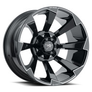 Luxxx HD Off-Road® LUX HD 16 Wheels Rims 22x12 8x170 Gloss Black Milled -44  | LHD1622128170-44GBKMIL