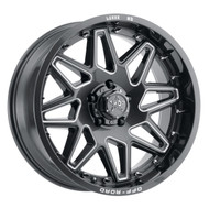 Luxxx HD Off-Road® LUX HD 17 Wheels Rims 20x9 5x127 (5x5) Gloss Black Milled -12  | LHD172095127GBKMIL