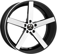 Ravetti® M1 Wheels Rims 22x10 5x120 Black Machined 25 | RAV-M1-22167BBR