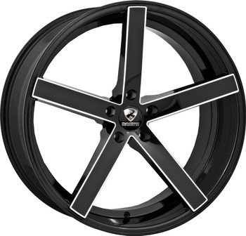 Ravetti® M1 Wheels Rims 22x10 5x115 Black Milled 25 | RAV-M1-22164BMW