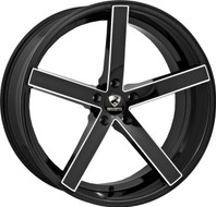 Ravetti® M1 Wheels Rims 20x8.5 5x112 Black Milled 35 | RAV-M1-2874BMW