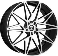 Ravetti® M5 Wheels Rims 22x10 5x115 Black Machined 25 | RAV-M5-22164BM