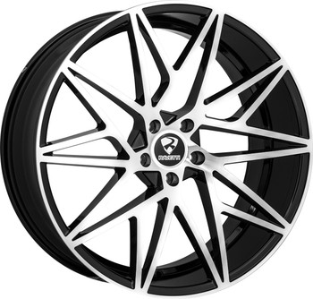 Ravetti® M5 Wheels Rims 22x10 5x120 Black Machined 25 | RAV-M5-22167BM