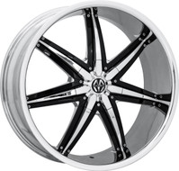 Massiv® Spline 923 Wheels Rims 26x9.5 5x127 (5x5) 5x5.5 (5x139.7) Chrome w/ Black Insert 13 | MAS923-26906CB