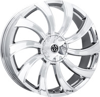 Massiv® Swerva 922 Wheels Rims 22x8.5 5x108 5x4.5 (5x114.3) Chrome   38 | MAS922-22854C