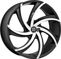 Massiv® Turbino 920 Wheels Rims 20x8.5 5x108 5x4.5 (5x114.3) Black w/ Chrome Insert 38 | MAS920-2854BC