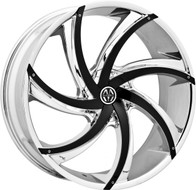Massiv® Turbino 920 Wheels Rims 22x8.5 5x108 5x4.5 (5x114.3) Chrome w/ Black Insert 38 | MAS920-22854CB