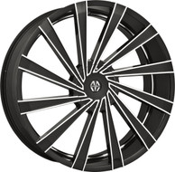 Massiv® Vertagio 921 Wheels Rims 22x8.5 5x115 5x120 Black Machined 15 | MAS921-22814B