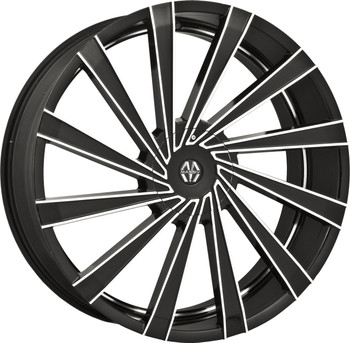 Massiv® Vertagio 921 Wheels Rims 22x8.5 5x110 5x115 Black Machined 38 | MAS921-22891B