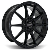 DRW® D10 Wheels Rims 18x8 5x100 5x4.5 (5x114.3) Gloss Black 40 | D10-188010H4073BLK