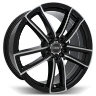 DRW® D12 Wheels Rims 18x8 5x100 5x4.5 (5x114.3) Black Machined 40 | D12-188010H4073BMF