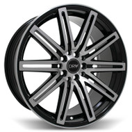 DRW® D13 Wheels Rims 18x8 5x100 5x4.5 (5x114.3) Black Machined 40 | D13-188010H4073BMF