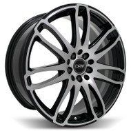 DRW® D14 Wheels Rims 18x7.5 5x100 5x4.5 (5x114.3) Black Machined 40 | D14-187510H4073BMF