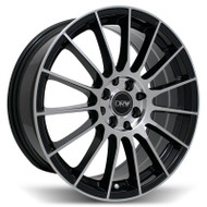 DRW® D15 Wheels Rims 18x8 4x100 4x4.5 (4x114.3) Black Machined 40 | D15-18808H4073BMF