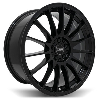 DRW® D15 Wheels Rims 18x8 5x108 5x4.5 (5x114.3) Gloss Black 40 | D15-188010H1084073BLK