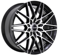 DRW® D17 Wheels Rims 18x8 5x100 5x4.5 (5x114.3) Black Machined 40 | D17-188010H4073BMF