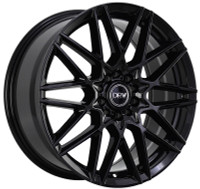 DRW® D17 Wheels Rims 18x8 4x100 4x4.5 (4x114.3) Gloss Black 40 | D17-18808H4073BLK