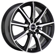DRW® D18 Wheels Rims 18x7.5 5x105 5x4.5 (5x114.3) Black Machined 40 | D18-187510H1054073BMF