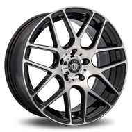 Curva Concepts® C7 Wheels Rims 19x9.5 5x4.5 (5x114.3) Black Machined 40 | C7-19951144073BMF