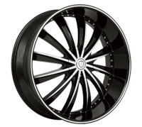 Borghini® B19 Wheels Rims 26x10 5x115 5x120 Black Machined 13 | BW19-26114BM