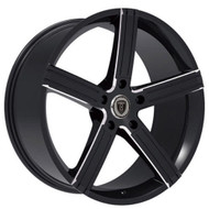 Borghini B39 Wheel 22x9.5 5x115 Black Milled 13MM