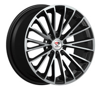Dcenti Racing® 039 Wheels Rims 17x7.5 5x100 5x4.5 (5x114.3) Black Machined 38 | DCTL039-7750BM