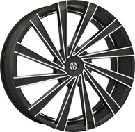 Massiv® Vertagio 921 Wheels Rims 22x8.5 5x4.5 (5x114.3) 5x120 Black Machined 38 | MAS921-22813B