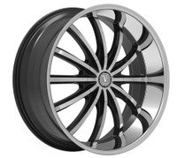 Velocity® VW24 Wheels Rims 20x8.5 5x4.5 (5x114.3) Black Machined 35 | VW24-2865BM