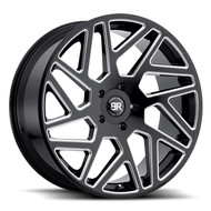Black Rhino Cyclone 22x9.5 5x127 5x5 Gloss Black 30 Wheels Rims | 2295CYC305127B71