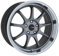 Enkei® Tenjin Wheels Rims 18x9.5 5x112 Gunmetal with Machined Lip 35 | 478-895-4435GM