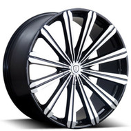 Borghini B18 Wheel 28x10 5x115 5x120 Black Machined 25MM - MINIMUM PURCHASE OF 4 WHEELS
