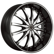 Borghini® B8 Wheels Rims 28x10 5x115 5x5.5 (5x139.7) Black Machined 13 | BW8-28115BM