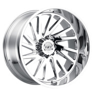 Tuff® T2A Left Wheels Rims 26x14 5x127 (5x5) Chrome -72  | 2614T2A-25127C71L