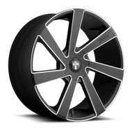 DUB Directa Wheels 22x9.5 5x4.5 (5x114.3) & 5x120 Black 33mm | S133229552+33