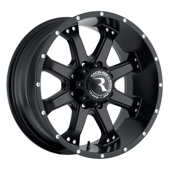 "Raceline Assault Black Wheels 20X9 8X165.1 ( 8X6.5"" ) -12 