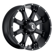 "Raceline Assault Black Wheels 17X9 8X165.1 ( 8X6.5"" ) +18 