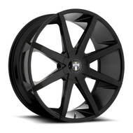 DUB Push Wheels 22x9.5 6x135 & 6x5.5 (6x139.7) Black 30mm | S110229597+30